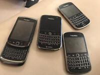 Collextion of working Blackberrys