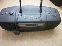 Matsui CD78 digital audio CD radio cassette player high speed cassette dubbing portable ac/dc