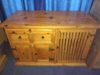 Pine SIDEBOARD - solid wood