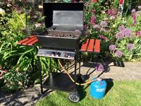 Landmann Gas BBQ with lava rocks complete with Camping Gas Cylinder