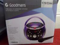 Goodmans Portable Karaoke Machine *New*