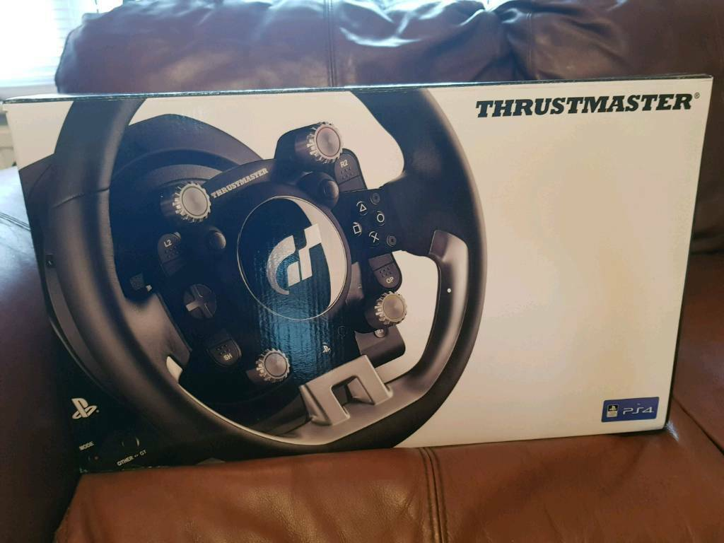 Thrustmaster T-GT steering wheel PS4 and gran turismo game