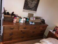 Bedroom pine dresser