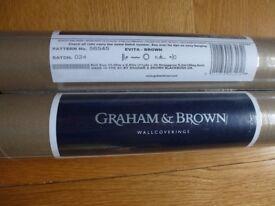 2 x GRAHAM & BROWN WALLPAPER EVITA BROWN