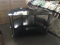 Black Glass TV stand, 3 Tiers