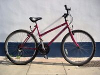 Ladies Mountain/ Commuter Bike by Merida, Burgandy, JUST SERVICED / CHEAP PRICE!!!!!!!!!!!!!!!