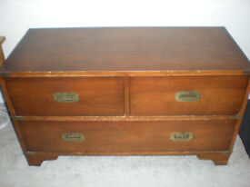Rosewood Chest of Drawers with brass fittings