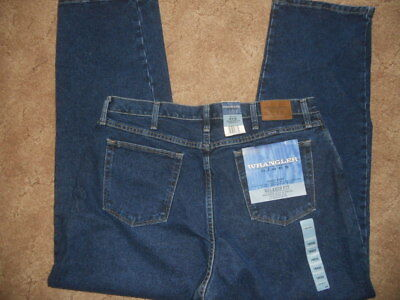 Ladies Wrangler Blues Dress Easy Relaxed Fit Jeans 6 8 10 18 x 32 or 34 NEW