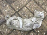 Happy Contented Cat Garden Ornament