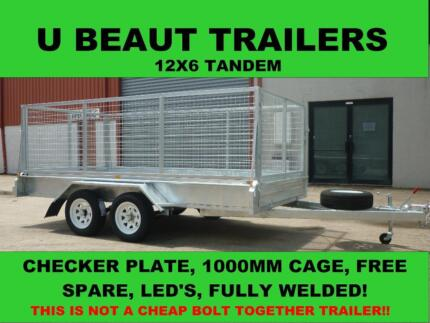 12x6 Tandem trailer Galvanised  2000kg ATM with 1000mm cage Seaford Frankston Area Preview