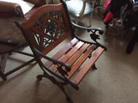 Garden bronze chair