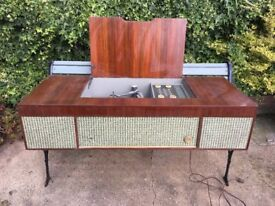 VINTAGE PYE MODEL G66 RECORD PLAYER WITH MONARCH DECK