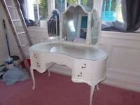 Shabby Chic Olympus Chest x2 And Dressing Table,Can Deliver