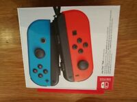 Nintendo Switch official joy-cons joycons joy cons controller controllers neon red and blue official