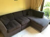 Chaise Sofa in brown