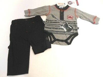 Boys Outfits Shirts Baby Boys creeper top Boys Pants Little Rocker 0/3 mos