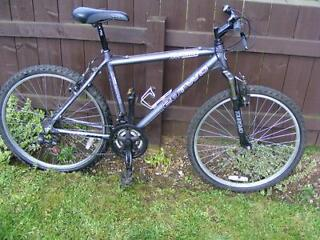 "ADULT MOUNTAIN BIKE WITH FRONT SUSPENSION  26"" WHEELS 21 SPEEDS, 20"" FRAME - POSSIBLE  DELIVERY"