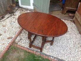 Small Coffee table, Solid Hard Wood, Re-surfaced would perfectly suit small flat.
