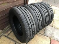 x4 Continental VancoEco Tyres 215/65/r16c (Vw t5 Transporter)
