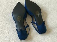 Navy blue wedding sling back shoes 6.5