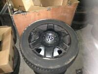 VW BORA GOLF MK5 SKODA OCTAVIA ALLOY WHEELS X4
