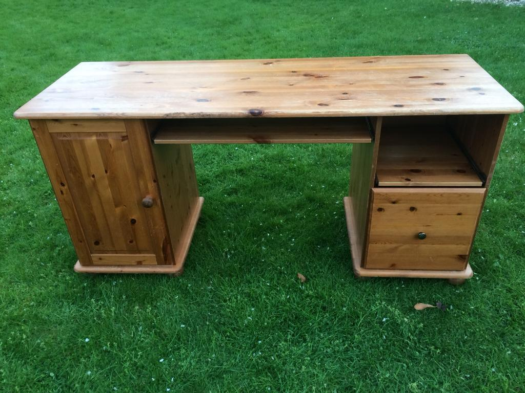 Beautiful Large Wooden Desk With Drawers From Next Gc