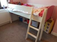 Girls solid mid-sleeper in good used condition
