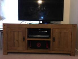 Oak furniture land rustic solid oak large tv cabinet