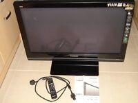 "Panasonic Viera 37"" Plasma flat panel TV (DVB / DIGITAL) with stand / remote / manual"