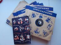 1950s Linguaphone 'Learn French' gramophone records