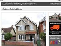 3 bed detached house in upper Shirley near General Hospital