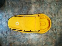 Bugaboo yellow footmuff cucoon