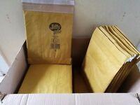 70 Jiffy Green self adhesive padded envelopes size 2 21cm(w) x 27cm(h)