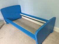 Small children's bed- IKEA Mammut Bed with bed slats & mattress