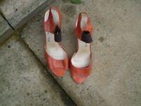 Dark Orange Ladies size 5 Sandles