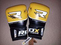 RDX Leather MMA Boxing Gloves Training Sparring MuayThai Kickboxing T9 Quad-Kore