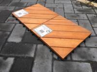 Quick-snap wooden deck tiles for sale