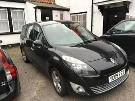 Renault scenic 1.9-dci-diesel-7 seater-new shape 09 reg-black-1 owner-part exchange welcome