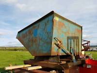 Large heavy duty forklift tipping skip ideal for farm stables scrap rubbish building site etc
