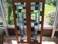 Stained Glass Panels (Celtic Knot Design Custom Made)