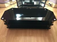 tempered glass tv stand 3 shelf's 32-65 inch
