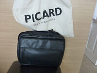 Picard Black Leather style Netbook carry case