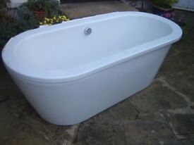 Stand Alone Bath Tub, White, complete with waste etc