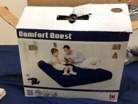Air mattress double bed good condition air pump