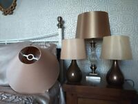Lampshades & lamps - clear out. Job lot but will sell separately