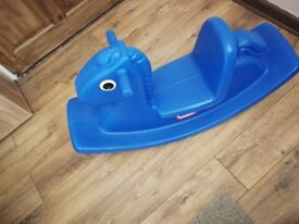 Little tikes blue rocker