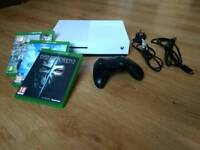 Xbox One S: Boxed, with controller and 3 games
