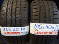 "**sale** WIDE SELECTION 19"" TYRES 6mm+ treadALL £45 EACH SUP & fittd 7dys (punct £8) opn sunday 4pm"
