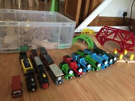 Wooden Train Set + Thomas the Tank Engine collection