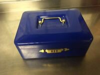Cash metal box with combination lock